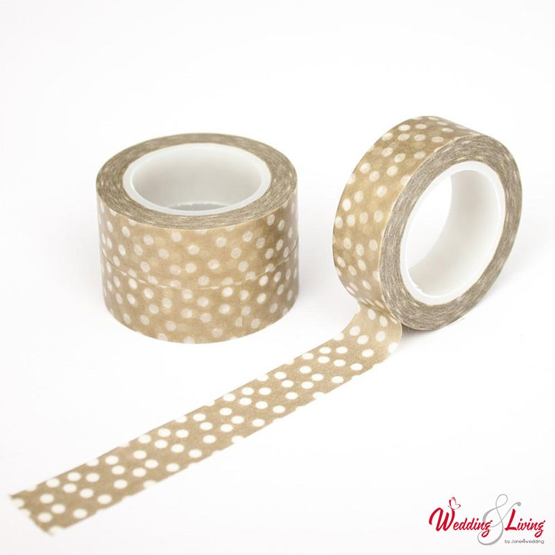 masking tape biene maja gold mit weissen punkten 10m. Black Bedroom Furniture Sets. Home Design Ideas